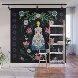 Folk Art Forest Fairy Tale Fraulein Wall Mural