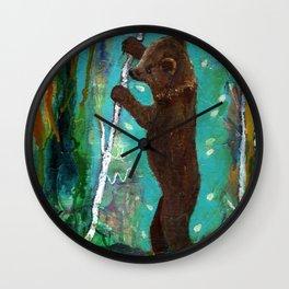 Spirit Cub Finds the Honey Wall Clock