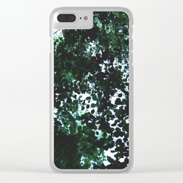 Tops of the leaves of trees silhouettes Clear iPhone Case