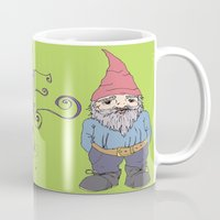 gnome Mugs featuring Gnome Sayin?  by Aubree Eisenwinter