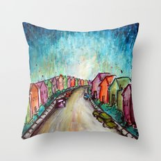 The Street Near My Street Throw Pillow