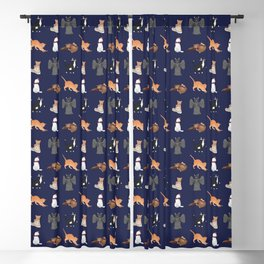 Doctor Who Cats Blackout Curtain