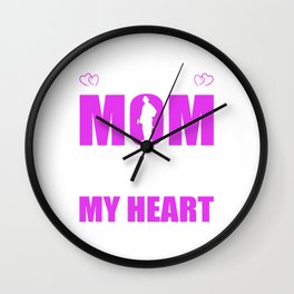 Firefighters Mom Full Heart Mothers Day T-Shirt Wall Clock