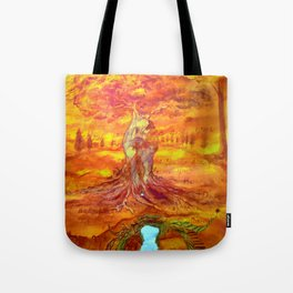 Follow your dreams and your dreams become you Tote Bag