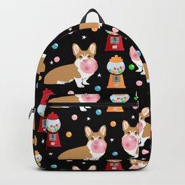 Corgi bubblegum cute pet portrait custom dog breed art pattern by pet friendly Backpack