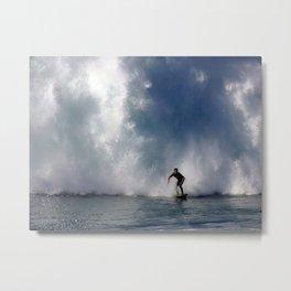 Surfing At The Wedge In Newport Beach, Califonia Metal Print