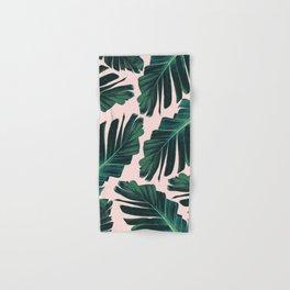 Tropical Blush Banana Leaves Dream #1 #decor #art #society6 Hand & Bath Towel