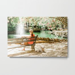 Dog in the Park, Sevilla, Spain - Wall Art Photo Print Metal Print