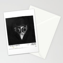 Black Death Mask Stationery Cards