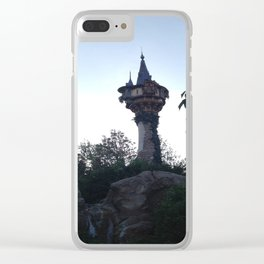 Tangled Rapunzel's Tower Clear iPhone Case