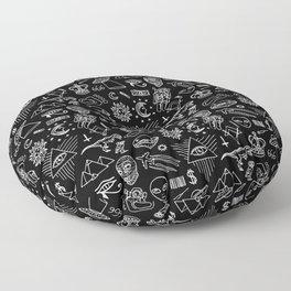 Conspiracy pattern (Censored version) Floor Pillow