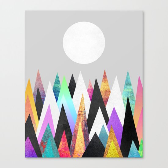 Colorful Peaks / Version 2 Canvas Print