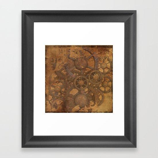 Rusty Gears Framed Art Print