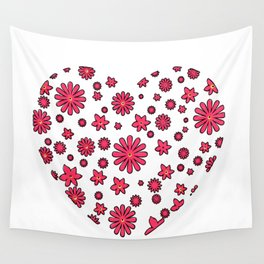 Floral Heart  Wall Tapestry