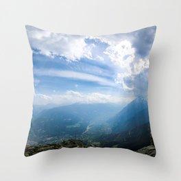 Meran // Mutspitze Throw Pillow