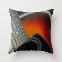 guitar Throw Pillows featuring Guitar by Bruce Stanfield