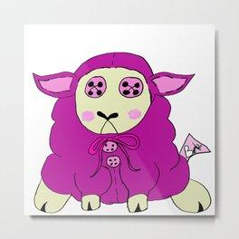Stuffies Lambie Metal Print