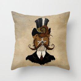 Fine Victorian Bulldog Throw Pillow