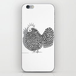 Zentangle  Funky Chicken Illustration iPhone Skin