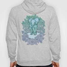 Emerald Elephant in the Lilac Evening Hoody