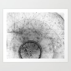 Particle Tracks Art Print