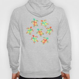 Cute Flower Child Hippy Turtles Hoody