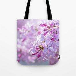 Pink Lilacs Flower Mist Tote Bag