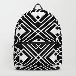 Geometric Pattern In Black And White. Backpack