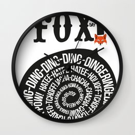 What Does the Fox Say? Wall Clock