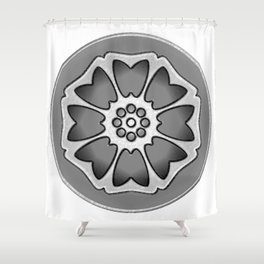 THE LOTUS TILE Shower Curtain