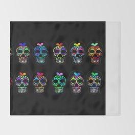 Dozen Sugar Skulls Throw Blanket