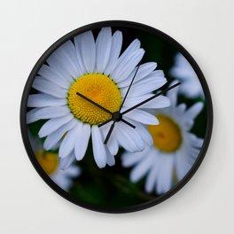Moody Daisies Wall Clock