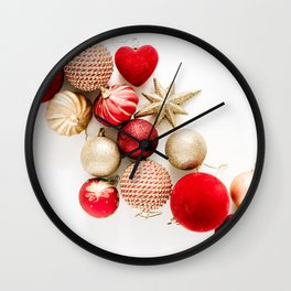 Christmas Background 12 Wall Clock