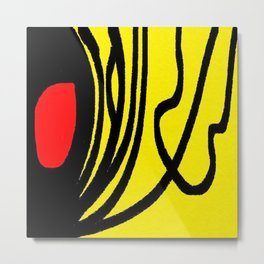 red yellow black Metal Print