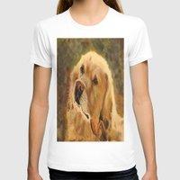 golden retriever T-shirts featuring Golden Retriever by Tidwell