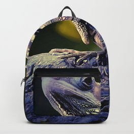 painting dragon lizart Backpack