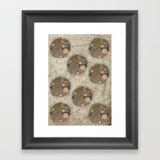Honeybee Pattern Framed Art Print