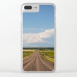 Summer Roads, Glasgow, Montana 3 Clear iPhone Case