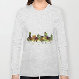 Milwaukee, Wisconson Skyline SG - Safari Buff Long Sleeve T-shirt