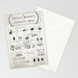 Beer Benefits Stationery Cards