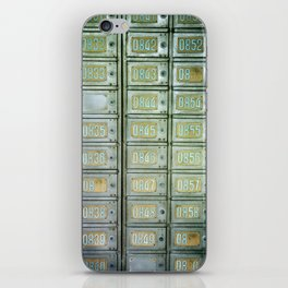 PO boxes iPhone Skin