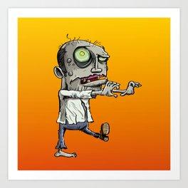 Stalking Zombie Art Print