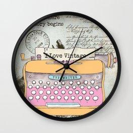 Typewriter #1 Wall Clock
