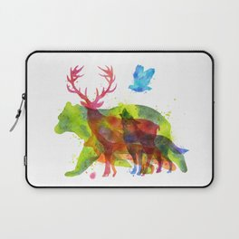Watercolor animals save the nature Laptop Sleeve
