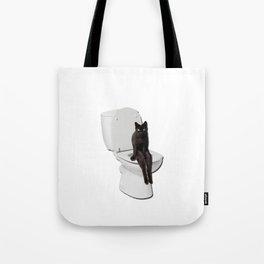 Toilet Cat Tote Bag