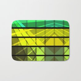 An abstract geometric pattern . Bath Mat