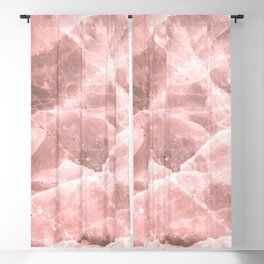 Rose quartz stone Blackout Curtain