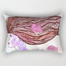 Woman of the Roses Rectangular Pillow