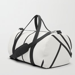 Diamond Series Sun Burst Charcoal on White Duffle Bag
