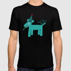 Party Animal-Teal Black MEDIUM Mens Fitted Tee